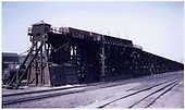 D&amp;RGW Alamosa coaling trestle and sand house from the northeast.<br /> D&amp;RGW  Alamosa, CO  Taken by Buvinger, John - 1956