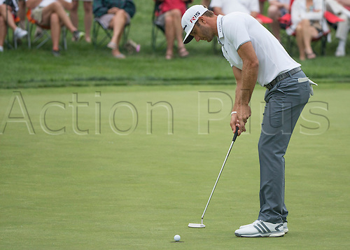 06.06.2015. Dublin, Ohio, USA.  Dustin Johnson during the third round of the Memorial Tournament held at the Muirfield Village Golf Club in Dublin, Ohio.