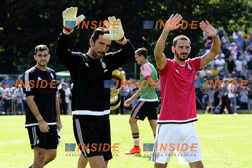 Villar Perosa (To) 19-08-2015 - amichevole / Juventus A-Juventus B / foto Daniele Buffa/Image Sport/Insidefoto<br /> nella foto: Gianluigi Buffon-Leonardo Bonucci