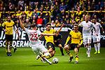 11.05.2019, Signal Iduna Park, Dortmund, GER, 1.FBL, Borussia Dortmund vs Fortuna Düsseldorf, DFL REGULATIONS PROHIBIT ANY USE OF PHOTOGRAPHS AS IMAGE SEQUENCES AND/OR QUASI-VIDEO<br /> <br /> im Bild | picture shows:<br /> Zweikampf zwischen Niko Giesselmann (Fortuna #23) und Raphael Guerreiro (Borussia Dortmund #13), <br /> <br /> Foto © nordphoto / Rauch