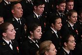 A U.S. Navy chorus sings during memorial ceremonies for former President George H.W. Bush in the U.S. Capitol Rotunda in Washington, U.S., December 3, 2018. REUTERS/Jonathan Ernst/Pool