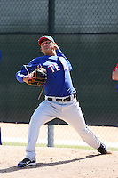 Martin Perez, Texas Rangers 2010 minor league spring training..Photo by:  Bill Mitchell/Four Seam Images.