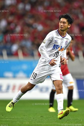Yojiro Takahagi (Sanfrecce),<br /> AUGUST 16, 2014 - Football / Soccer :<br /> 2014 J.League Division 1 match between Urawa Red Diamonds 1-0 Sanfrecce Hiroshima at Saitama Stadium 2002 in Saitama, Japan. (Photo by AFLO)