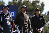 Joost Luiten (NED) and Gavin Green (MAS) on the 5th tee during Round 4 of the Betfred British Masters 2019 at Hillside Golf Club, Southport, Lancashire, England. 12/05/19<br /> <br /> Picture: Thos Caffrey / Golffile<br /> <br /> All photos usage must carry mandatory copyright credit (© Golffile | Thos Caffrey)