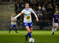 20180126 - OOSTAKKER , BELGIUM : Gent's Silke Vanwynsberghe pictured during the quarter final of Belgian cup 2018 , a womensoccer game between KAA Gent Ladies and RSC Anderlecht , at the PGB stadion in Oostakker , friday 27 th January 2018 . PHOTO SPORTPIX.BE | DAVID CATRY
