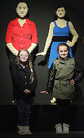11/04/14 (NO FEE PICS) Abi Burton (8) and Carlie OConner (8) at The Art of the Brick coming to The Ambassador Theatre.Exhibition featuring art created out of LEGO® bricks on show in Dublin running from 12th April 2014 for a limited period. Pic Stephen Collins/Collins Photos