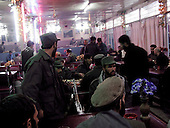 Kabul, Afghanistan<br /> November 20, 2001<br /> <br /> Soldiers eat at a restaurant in Kabul.