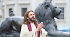 The Passion of Jesus in Trafalgar Square<br /> Good Friday 14th April 2017 <br /> <br /> Trafalgar Square, London, Great Britain <br /> <br /> The Wintershall theatre company <br /> <br /> The Life of Christ The Greatest Story of all time.  <br /> <br /> one hundred Wintershall players bring their electric and moving portrayal of the final days of Jesus to this iconic location in the capital.<br /> <br /> <br /> <br /> Photograph by Elliott Franks <br /> Image licensed to Elliott Franks Photography Services