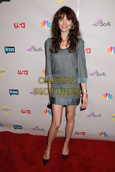 SAFFRON BURROWS.NBC Universal 2008 Press Tour All-Star Party at the Beverly Hilton Hotel, Beverly Hills, California, USA..July 20th, 2008.full length grey gray dress .CAP/ADM/BP.©Byron Purvis/AdMedia/Capital Pictures.