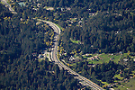 Highway acting as barrier for wildlife, Highway 17, Santa Cruz Mountains, Monterey Bay, California