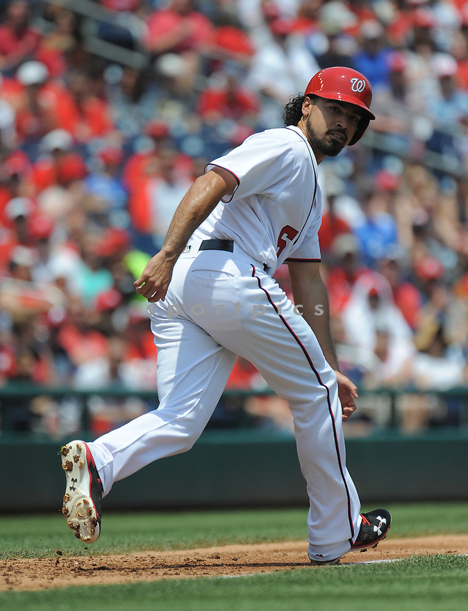 Washington Nationals Anthony Rendon (6) during a game against the Philadelphia Phillies on June 11, 2016 at Nationals Park in Washington, DC. The Nationals beat the Phillies 8-0.