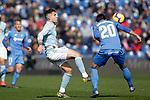Getafe CF's Nemanja Maksimovic and Celta de Vigo's Hugo Mallo  during La Liga match. February 09,2019. (ALTERPHOTOS/Alconada)