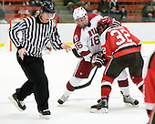 Alex Fallstrom (Harvard - 16), Aaron Bogosian (St. Lawrence - 32) - The St. Lawrence University Saints defeated the Harvard University Crimson 3-2 on Friday, November 20, 2009, at the Bright Hockey Center in Cambridge, Massachusetts.