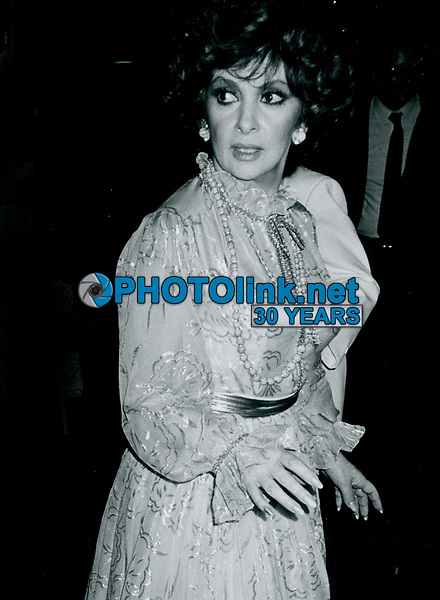 Gina Lollabrigida 1984<br /> Photo By John Barrett-PHOTOlink.net