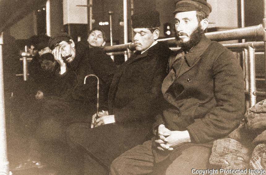 "Historical Views:  Lewis Hine Photograph ""Jews at Ellis Island 1904"".  Photo '78.  Reference only."
