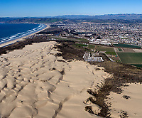 aerial photograph of the Pismo Beach dunes at Oceano, San Luis Obispo County, California