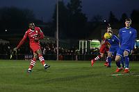 Chris Dickson of Hornchurch goes close during Hornchurch vs Aveley, Buildbase FA Trophy Football at Hornchurch Stadium on 11th January 2020