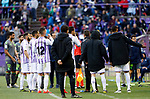 Real Valladolid's team during La Liga match. March 31, 2019. (ALTERPHOTOS/Manu R.B.)