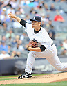 Masahiro Tanaka (Yankees),<br /> JUNE 5, 2014 - MLB :<br /> Masahiro Tanaka of the New York Yankees pitches during the Major League Baseball game against the Oakland Athletics at Yankee Stadium in Bronx, New York, United States. (Photo by AFLO)