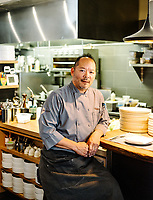Owner and Chef Jeff Osaka at 12 @ Madison Restaurant in Denver, Colorado, Wednesday, August 22, 2018. <br /> <br /> Photo by Matt Nager