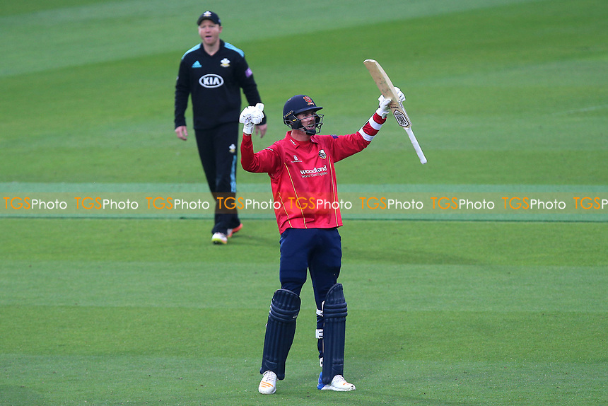 Matt Quinn of Essex celebrates victory during Surrey vs Essex Eagles, Royal London One-Day Cup Cricket at the Kia Oval on 2nd May 2017