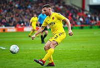 Fleetwood Town's Lewis Coyle in action<br /> <br /> Photographer Richard Martin-Roberts/CameraSport<br /> <br /> The EFL Sky Bet League One - Barnsley v Fleetwood Town - Saturday 13th April 2019 - Oakwell - Barnsley<br /> <br /> World Copyright &not;&copy; 2019 CameraSport. All rights reserved. 43 Linden Ave. Countesthorpe. Leicester. England. LE8 5PG - Tel: +44 (0) 116 277 4147 - admin@camerasport.com - www.camerasport.com