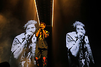 LONDON, ENGLAND - MARCH 14: Post Malone (Austin Richard Post) performing at O2 Arena on March 14, 2019 in London, England.<br /> CAP/MAR<br /> &copy;MAR/Capital Pictures
