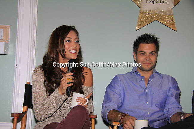 General Hospital Lindsey Morgan & Erik Valdez paints and donates time at SoapFest's Celebrity Weekend - Art for Autism when the actors & kids make paintings for auction to benefit Autism on November 10, 2012 Marco Island, Florida. For info www.autism-society.org or www.autismspeaks.org. (Photo by Sue Coflin/Max Photos)