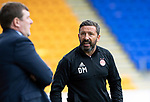 St Johnstone v Aberdeen&hellip;15.09.18&hellip;   McDiarmid Park     SPFL<br />Derek McInnes has words with Tommy Wright<br />Picture by Graeme Hart. <br />Copyright Perthshire Picture Agency<br />Tel: 01738 623350  Mobile: 07990 594431