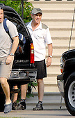 Washington, D.C. - June 2, 2007 -- United States President George W. Bush departs the White House in Washington, D.C. on Saturday, June 2, 2007.  He was departing to go biking, one of his favored forms of exercise.<br /> Credit: Ron Sachs - Pool via CNP
