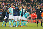 PSV Eindhoven's players during the penalty shootout during UEFA Champions League match. March 15,2016. (ALTERPHOTOS/Borja B.Hojas)