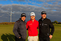 Joshua McMahon (Wallisey) with his Grand-father and father after winning the Lytham Trophy 2019, held at Royal Lytham & St. Anne's, Lytham, Lancashire, England. 05/05/19<br /> <br /> Picture: Thos Caffrey / Golffile<br /> <br /> All photos usage must carry mandatory copyright credit (© Golffile | Thos Caffrey)