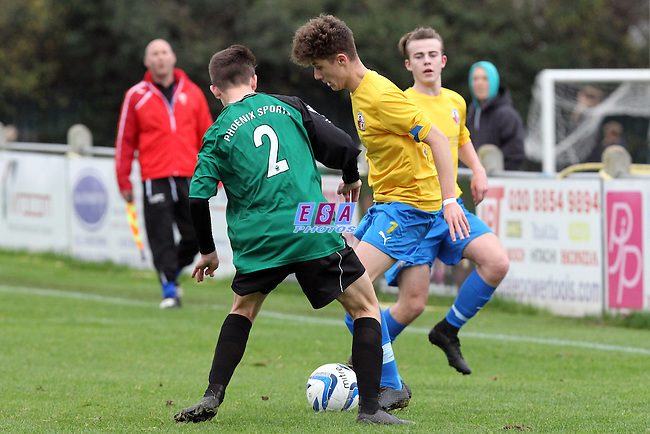 PHOENIX SPORTS v SHEPPEY UNITED<br /> KENT YOUTH LEAGUE<br /> U18 KIT TO FIT CHALLENGE CUP<br /> SUNDAY 8TH NOVEMBER 2015