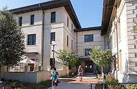 The new wing of Swan Hall, which houses Dumke Commons, Oct. 17, 2012. (Photo by Marc Campos, Occidental College Photographer)