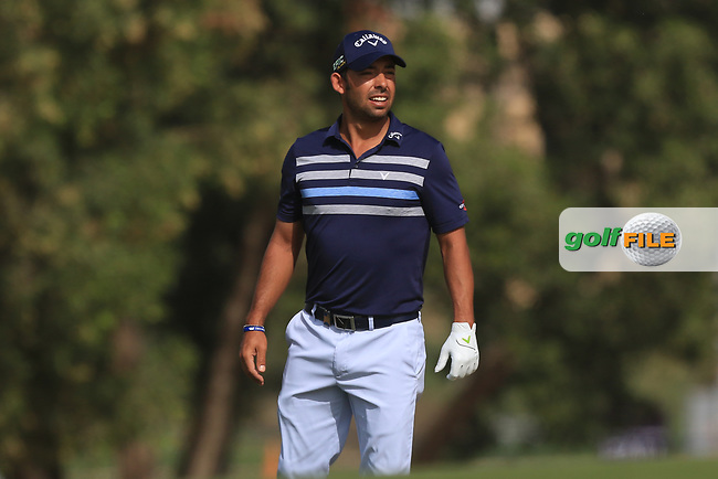 Pablo Larrazabal (ESP) on the 3rd during Round 3 of the Omega Dubai Desert Classic, Emirates Golf Club, Dubai,  United Arab Emirates. 26/01/2019<br /> Picture: Golffile | Thos Caffrey<br /> <br /> <br /> All photo usage must carry mandatory copyright credit (&copy; Golffile | Thos Caffrey)