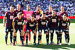 Eibar FC's players during a match of La Liga Santander at Santiago Bernabeu Stadium in Madrid. October 02, Spain. 2016. (ALTERPHOTOS/BorjaB.Hojas)