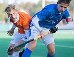 BLOEMENDAAL  -  Stijn Hemmes, met , competitiewedstrijd junioren  landelijk  Bloemendaal JB1-Kampong JB1 (4-3) . COPYRIGHT KOEN SUYK