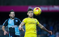 George Baldock of Oxford United keeps eyes on the ball during the Sky Bet League 2 match between Wycombe Wanderers and Oxford United at Adams Park, High Wycombe, England on 19 December 2015. Photo by Andy Rowland.