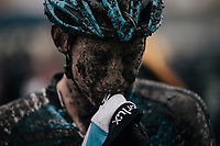 Michael Vanthourenhout's (BEL/Marlux-Napoleon Games) post-race face<br /> <br /> Elite Men's race<br /> Superprestige Gavere / Belgium 2017