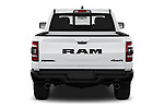 Straight rear view of a 2019 Ram 1500 Rebel 4 Door Pick Up stock images