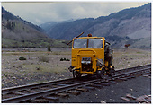 Speeder #308 south of Silverton<br /> D&amp;RGW  s. of Silverton, CO