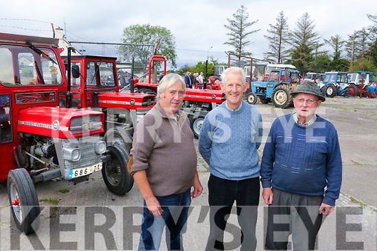 Enjoying the  6th annual Mid Kerry Vintage Rally in Castlemaine were Neily Breen, Len McCarthy and Richard Carey