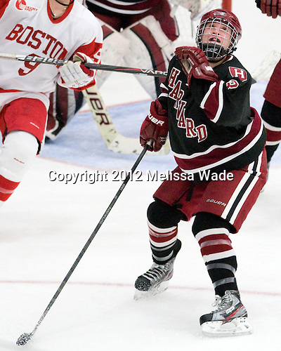 Sarah Edney (Harvard - 3) - The Boston University Terriers defeated the visiting Harvard University Crimson 2-1 on Sunday, November 18, 2012, at Walter Brown Arena in Boston, Massachusetts.