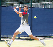 June 15th 2017, Nottingham, England; ATP Aegon Nottingham Open Tennis Tournament day 6;  Kenny De Schepper of France who lost to Bjorn Fratangelo of USA in two sets in round two