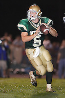 10-07-2005:  Nease High School Panthers quarterback Tim Tebow (5) drops back to pass.