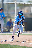 Tampa Bay Rays Vidal Brujan (2) during a Minor League Spring Training game against the Minnesota Twins on March 15, 2018 at CenturyLink Sports Complex in Fort Myers, Florida.  (Mike Janes/Four Seam Images)
