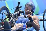 Giovanni Achenza (ITA), <br /> SEPTEMBER 10, 2016 - Triathlon : <br /> Men's Individual Paratriathlon PT1 <br /> at Fort Copacabana<br /> during the Rio 2016 Paralympic Games in Rio de Janeiro, Brazil.<br /> (Photo by AFLO SPORT)