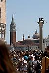 View of San Giorgio Maggiore from St Marks square. Venice, Italy.