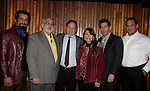 Guiding Light's Justin Deas and Navid Negahban (Homeland) (L) and Vichik Mangussarian, Mary Apick, Rich Lounello, Frank Giglio star in the movie Price for Freedom which tells the story of an Iranian Jew who worked to counter oppression after the 1979 Islamic Revolution was shot in Orange County and Italy and premieres May 29, 2015 at the Hoboken Film Festival, Middletown, NY.  (Photo by Sue Coflin/Max Photos)
