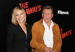 HOLLYWOOD, CA. - March 11: Tatum O'Neal and Ryan O'Neal  arrive at the Los Angeles Premiere of The Runaways at ArcLight Cinemas Cinerama Dome on March 11, 2010 in Hollywood, California.